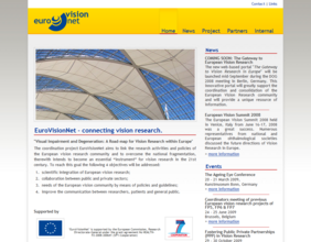 Screenshot of the website eurovisionnet.eu